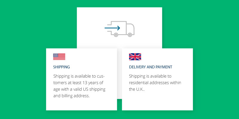 ecommerce localization delivery details