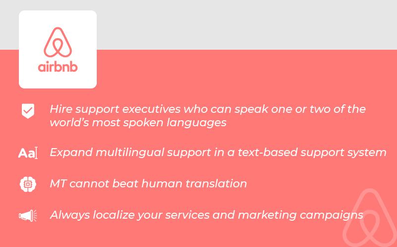 Multilingual Customer Service airbnb