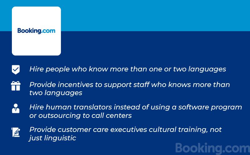 Multilingual Customer Service Booking.com