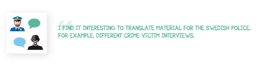 Translator Interview Swedish Police