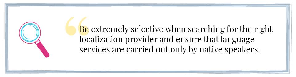 Native Localization Service Providers