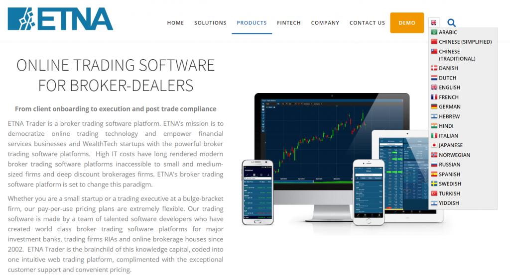 ETNA Multilingual Website