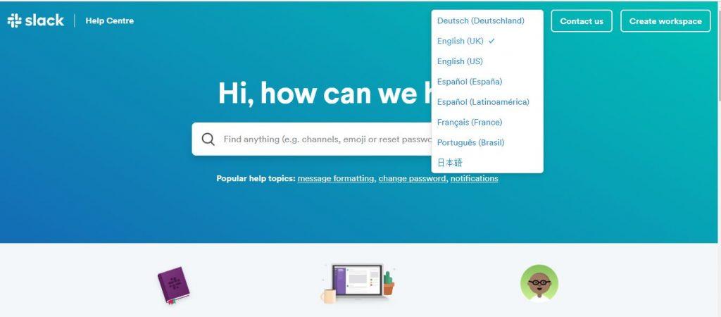 Slack Multilingual Help Center