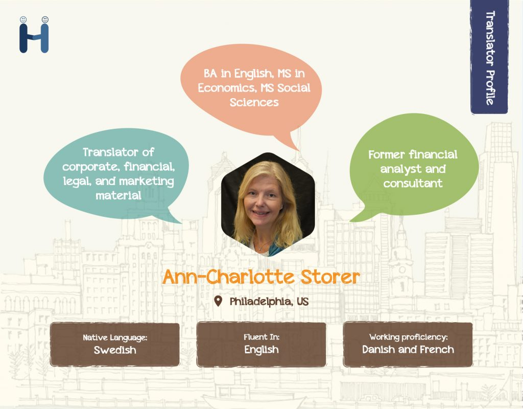 Ann-Charlotte Storer Translator Profile