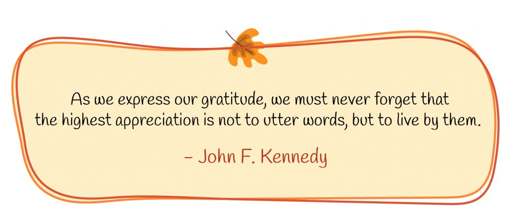 Gratitude quote by John F. Kennedy