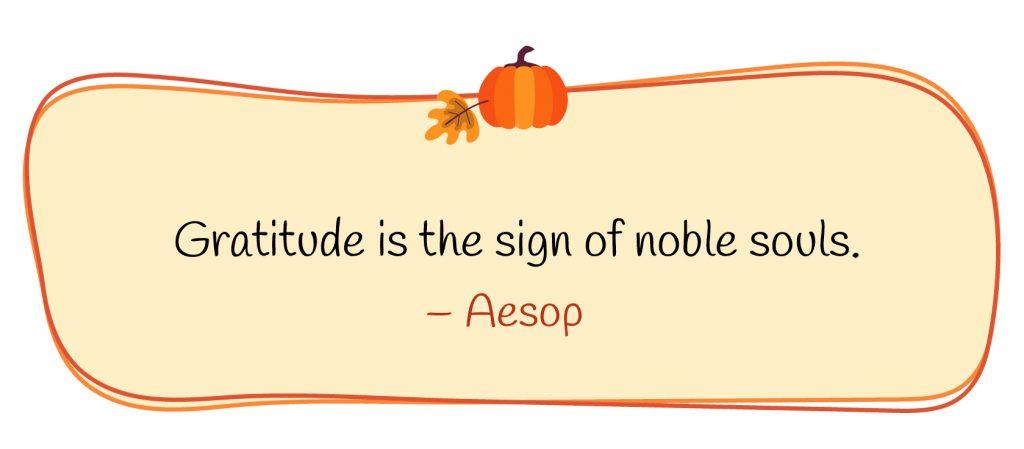 Gratitude quote by Aesop