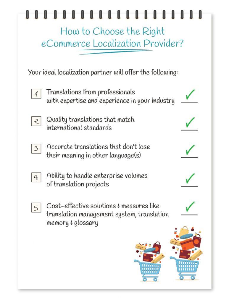 Choosing an eCommerce localization provider