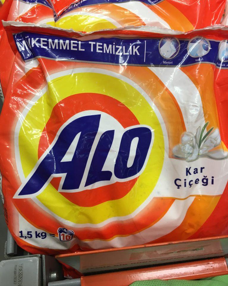 Tide Detergent packaging for Turkey