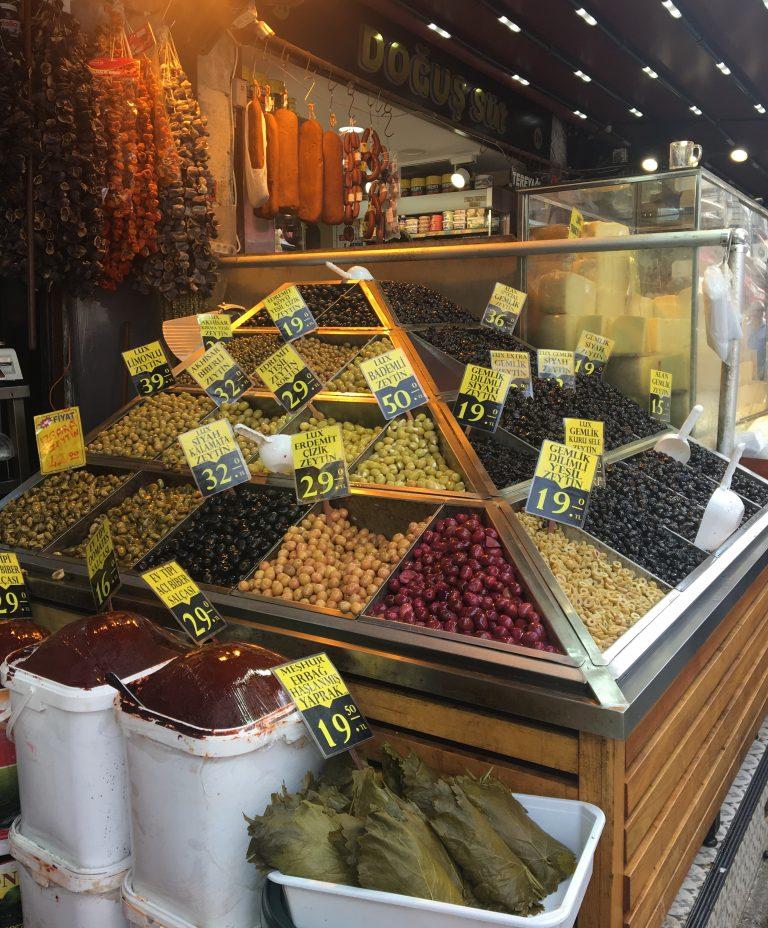 Olives at Istanbul Bazaar