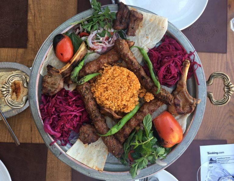 Turkish kebab platter