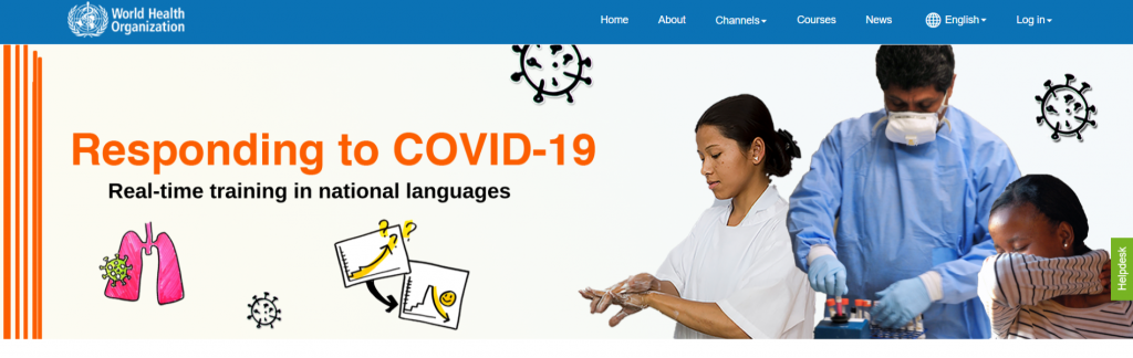 WHO multilingual COVID-19 training courses