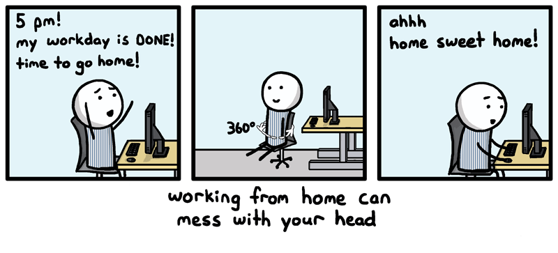Work from Home Comic