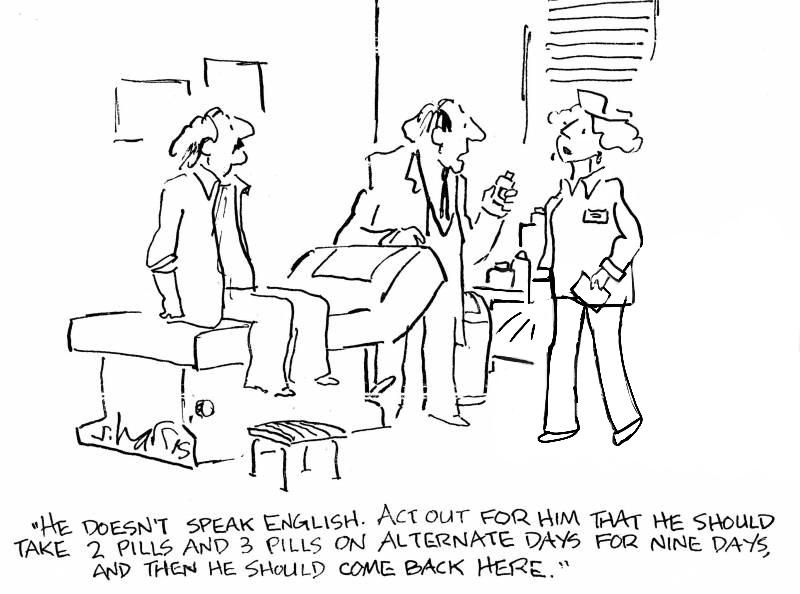 medical interpretation cartoon