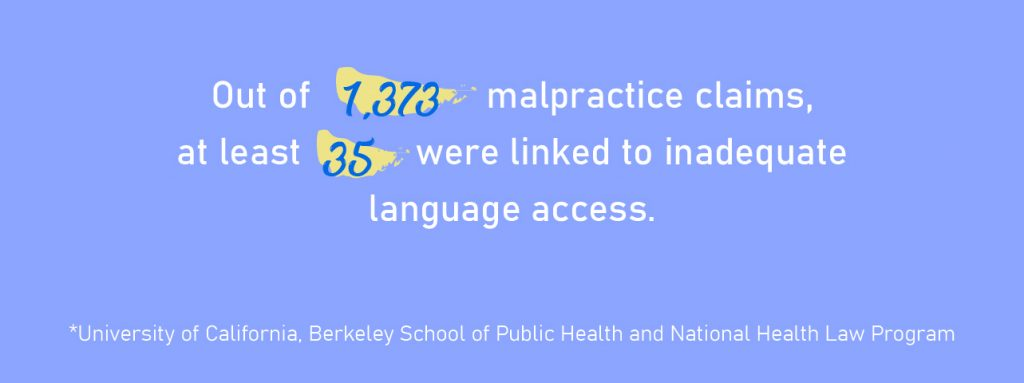 medical language access malpractice claims