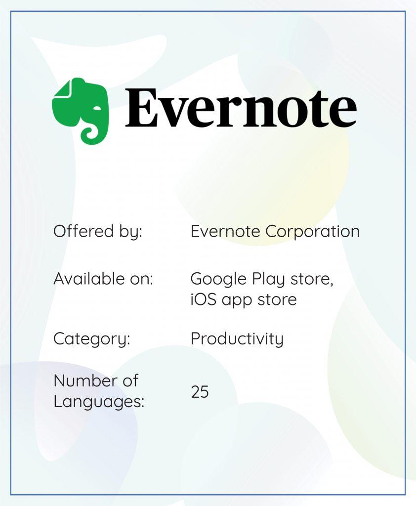 App localization Evernote