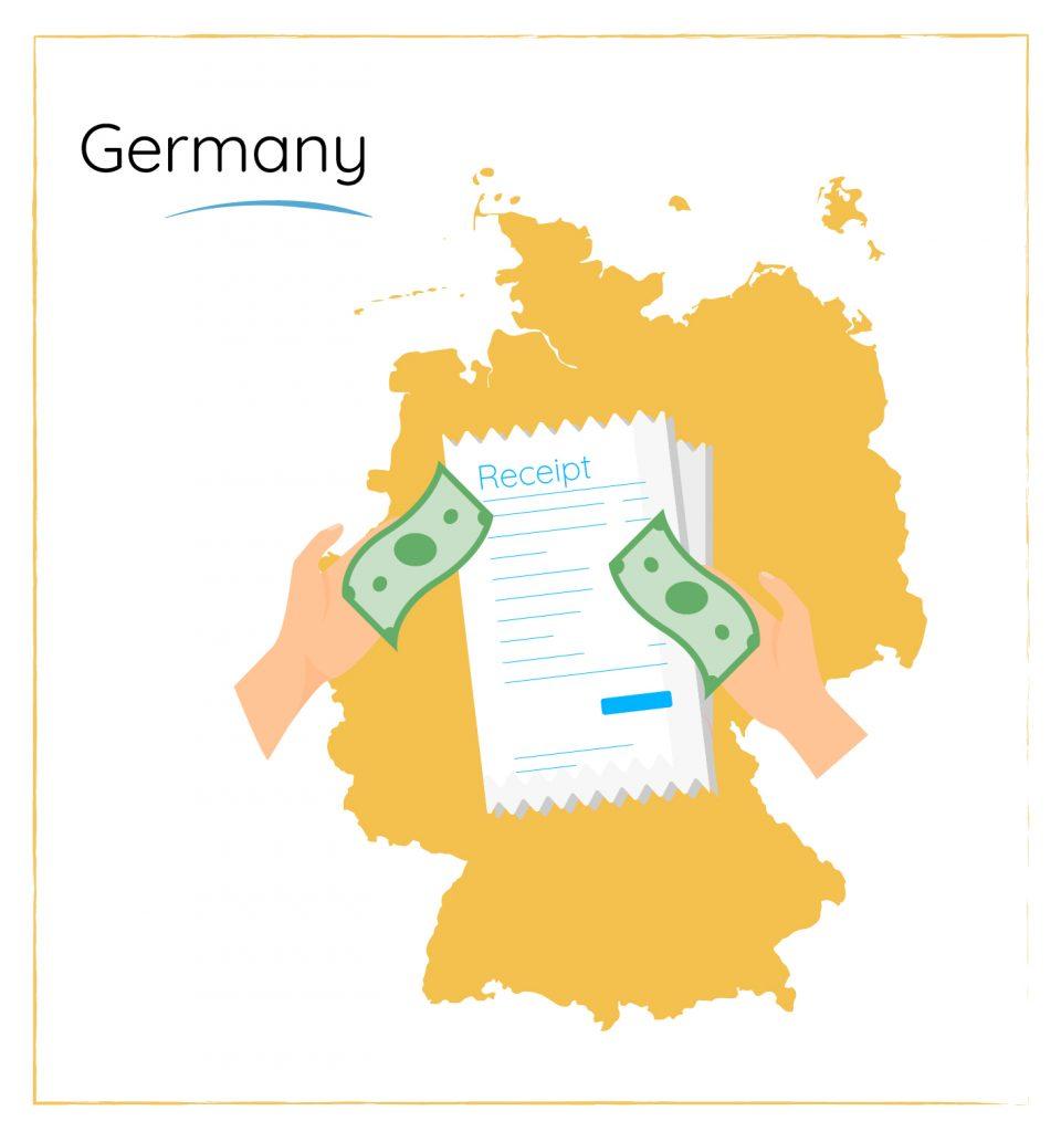 german dining etiquette split the bill