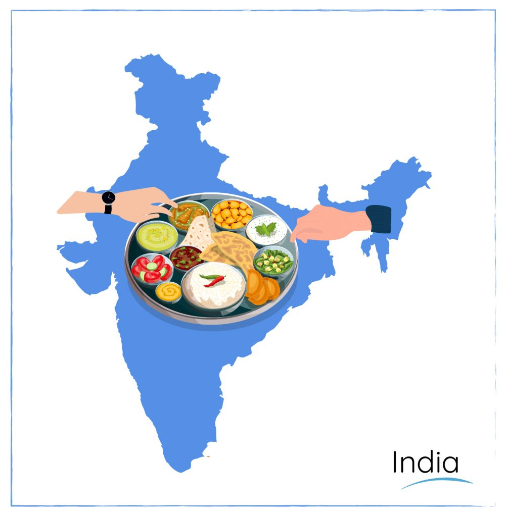 india dining etiquette sharing food