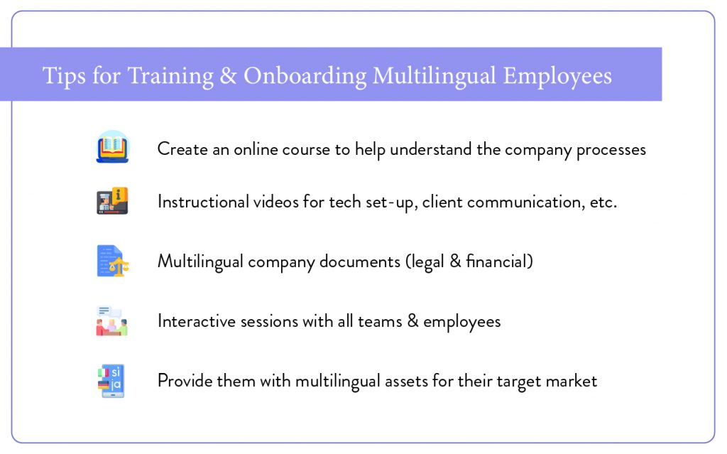 Tips for training & onboarding multilingual employees