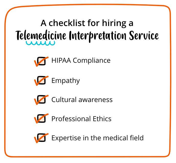 Checklist For Telemedicine Interpreter
